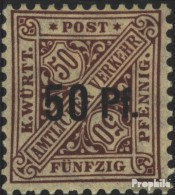 Württemberg D255 (kompl.Ausg.) Mit Falz 1919 Ziffern In Schildern - Wurtemberg