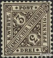 Württemberg D228 Postfrisch 1906 Ziffern In Schildern - Wurtemberg