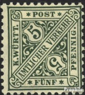 Württemberg D229 Postfrisch 1906 Ziffern In Schildern - Wurtemberg