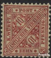 Württemberg D230 Postfrisch 1906 Ziffern In Schildern - Wurtemberg