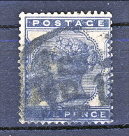 UK 1880-81 Victoria - N. 70 - 5 Penny Azzurro Nero Usato - Used Stamps