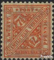 Württemberg D238 Postfrisch 1916 Ziffern In Schildern - Wurtemberg