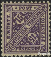 Württemberg D252 Postfrisch 1917 Ziffern In Schildern - Wurtemberg