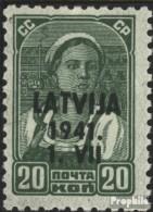 Lettland (Dt.Bes.2.WK.) 4 Postfrisch 1941 Latvija - Ocupación 1938 – 45