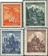 Böhmen Und Mähren 38-41 (kompl.Ausg.) Postfrisch 1940 Freimarken - Ocupación 1938 – 45