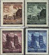Böhmen Und Mähren 75-78 (kompl.Ausg.) Postfrisch 1941 Freimarken - Ocupación 1938 – 45