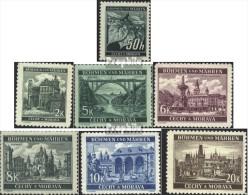 Böhmen Und Mähren 55-61 (kompl.Ausg.) Gestempelt 1940 Freimarken - Ocupación 1938 – 45
