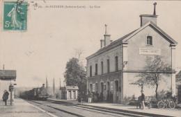 SAINT PATERNE 37 ( LA GARE ) TRAIN A VAPEUR  SUPERBE ! ! !   1909 - Autres Communes