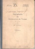 REGLAMENTO DE CONDUCCION DE TROPAS II PARTE AÑO 1941 292 PAGINAS MAS MUCHAS OTRAS PARA ANOTACIONES - War 1914-18