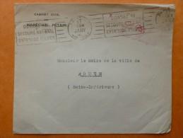 GRIFFE LE CHEF DE L ETAT FRANCAIS LETTRE CABINET DU MARECHAL PETAIN 1941 - 1921-1960: Modern Period