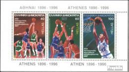 Griechenland Block6 (kompl.Ausg.) Postfrisch 1987 Basketball-EM - Blocks & Sheetlets