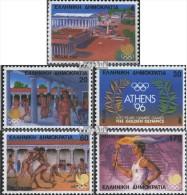 Griechenland 1687A-1691A (kompl.Ausg.) Postfrisch 1988 Sommerolympiade - Unused Stamps