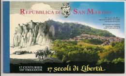 Saint-Marin 2000 - 1700e Anniversaire De La République De Saint-Marin - Carnet De Prestige - YT C1702 ** - Carnets