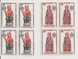 Andorre Français - Europa 1974 - Vierge De Pal - Vierge Des Remèdes De Santa-Coloma - YT 237 238 - Blocs De 4 ** - Luxe - Andorra Francesa