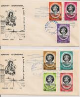 Haïti - Inauguration De L´aéroport De Port Au Prince - Poste Aériene 1965 - Série Complète En Blocs De 4 ** - 2 Envel... - Haiti