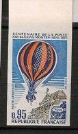 France - Poste Aérienne 1971 - YT PA 45a - Centenaire De La Poste Par Ballons Montés - Non Dentelé - Bord De Feuille - France