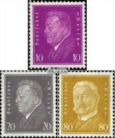 Deutsches Reich 435-437 (kompl.Ausg.) Gestempelt 1930 Reichspraesidenten - Usados