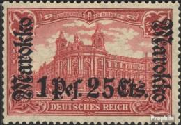 Dt. Post Marokko 55II B Mit Falz 1918 Aufdruckausgabe - Offices: Morocco