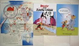 Lot 3 Posters PASTICHE ASTERIX ANTINUCLÉAIRE / PARODIE Carte Gaule, Domaine Des Dieux, Etc../ TBE ! - Affiches & Offsets