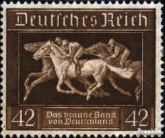 Deutsches Reich 621 (kompl.Ausg.) Gestempelt 1936 Braunes Band Pferderennen - Used Stamps