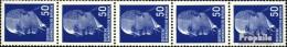 DDR 937X R Fünferstreifen Mit Zählnummer Postfrisch 1967 Ulbricht - [6] Democratic Republic