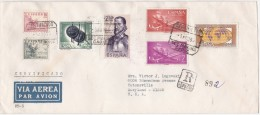 España 1963. Correo Certificado De Cadiz A Maryland. - 1961-70 Storia Postale