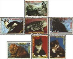 Äquatorialguinea 1394-1400 (kompl.Ausg.) Gestempelt 1978 Katzen - Equatorial Guinea