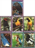 Äquatorialguinea 1007-1013 (kompl.Ausg.) Gestempelt 1976 Nordamerikanische Vögel - Equatorial Guinea