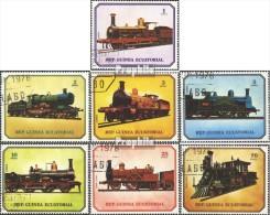 Äquatorialguinea 1361-1367A (kompl.Ausg.) Gestempelt 1978 Lokomotiven - Equatorial Guinea