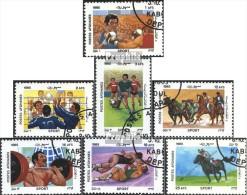 Afghanistan 1436-1442 (kompl.Ausg.) Gestempelt 1985 Sport - Afganistán