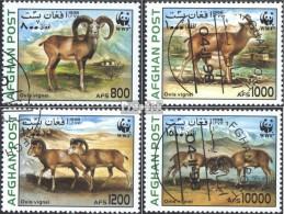 Afghanistan 1819-1822 (kompl.Ausg.) Gestempelt 1998 WWF: Steppenschaf - Afganistán