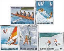 Griechenland 1515-1519 (kompl.Ausg.) Postfrisch 1983 Sport - Unused Stamps