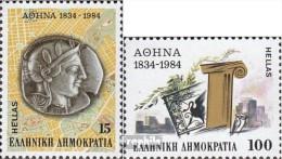 Griechenland 1568-1569 (kompl.Ausg.) Postfrisch 1984 Athen - Unused Stamps