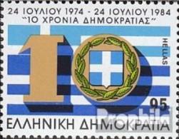 Griechenland 1570 (kompl.Ausg.) Postfrisch 1984 Demokratie - Unused Stamps