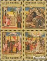 Griechenland 1571-1574 Viererblock (kompl.Ausg.) Postfrisch 1984 Weihnachten - Unused Stamps