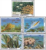 Griechenland 1680A-1684A (kompl.Ausg.) Postfrisch 1988 Kleinstlebewesen Im Mittelmeer - Nuevos
