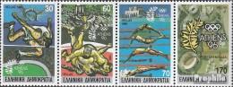 Griechenland 1717A-1720A Viererstreifen (kompl.Ausg.) Postfrisch 1989 Olympische Sommerspiele ´96 - Nuevos