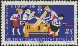 DDR 829Y Geprüft, Wasserzeichen Seitenverkehrt Postfrisch 1961 Pioniertreffen - [6] Democratic Republic