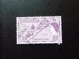 BERMUDA - BERMUDES - 1953-58 - SERIE COURANTE.ELIZABETH II ET SUJETS DIVERS - Yvert Nº 138 º FU - Bermudas