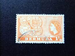 BERMUDA - BERMUDES - 1953-58 - SERIE COURANTE.ELIZABETH II ET SUJETS DIVERS - Yvert Nº 142 º FU - Bermudas