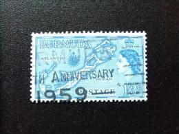 BERMUDA - BERMUDES - 1953-58 - SERIE COURANTE.ELIZABETH II ET SUJETS DIVERS - Yvert Nº 143 º FU - Bermudas