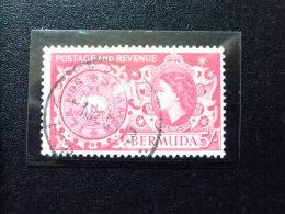 BERMUDA - BERMUDES - 1953-58 - SERIE COURANTE.ELIZABETH II ET SUJETS DIVERS - Yvert Nº 146 º FU - Bermudas
