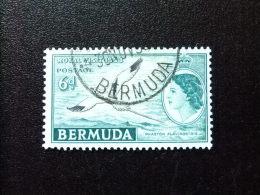 BERMUDA - BERMUDES - 1953-58 - SERIE COURANTE.ELIZABETH II ET SUJETS DIVERS - Yvert Nº 149 º FU - Bermudas