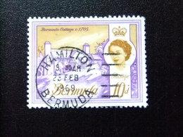 BERMUDA - BERMUDES - 1962-66 - ELIZABETH II ET SUJETS DIVERS DANS UN MÊME CADRE - Yvert Nº 170A  º FU - Bermudas