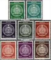 DDR DA34A-DA41A (kompl.Ausg.) Postfrisch 1957 Zirkelbogen Nach Rechts - [6] Democratic Republic