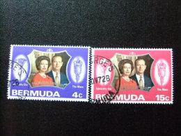 BERMUDA - BERMUDES - 1972 - NOCES D´ARGENT DE LA REINE ELIZABETH (COUPLE ROYAL) - Yvert Nº 284 / 285 º F - Bermudas