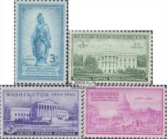 USA 607-610 (kompl.Ausg.) Postfrisch 1950 Bundeshauptstadt Washington - Nuevos