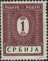 Serbien (Dt.Bes.2.WK.) P9 Postfrisch 1942 Portomarken - Occupation 1938-45