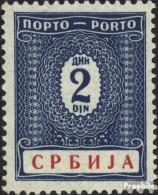Serbien (Dt.Bes.2.WK.) P10 Postfrisch 1942 Portomarken - Occupation 1938-45