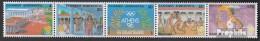 Griechenland 1687A-1691A Fünferstreifen (kompl.Ausg.) Postfrisch 1988 Sommerolympiade - Nuevos